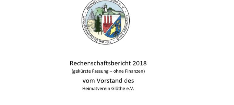 Erster Rechenschaftsbericht des Vereins