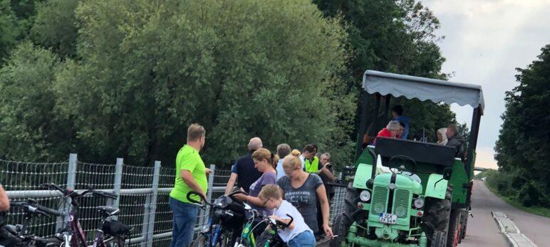 Ilberstedt begrüßt Radfahrer aus Glöthe